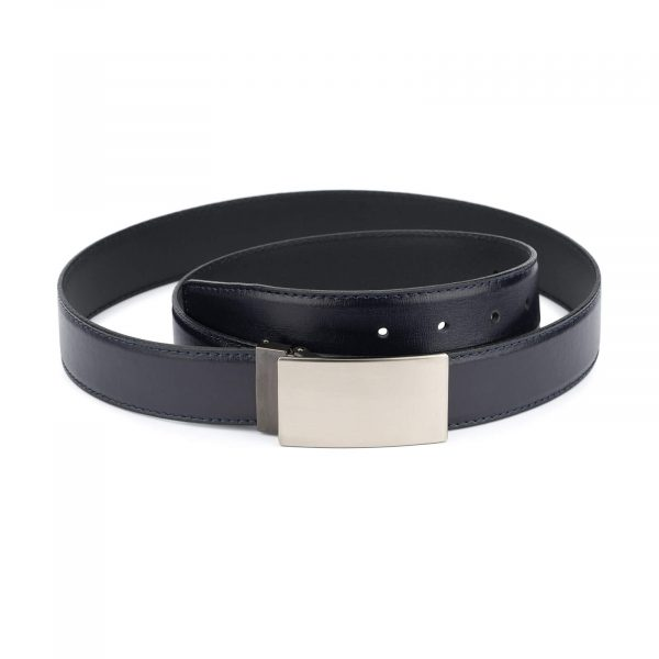 mens dark blue belt – blank buckle 35 mm 1