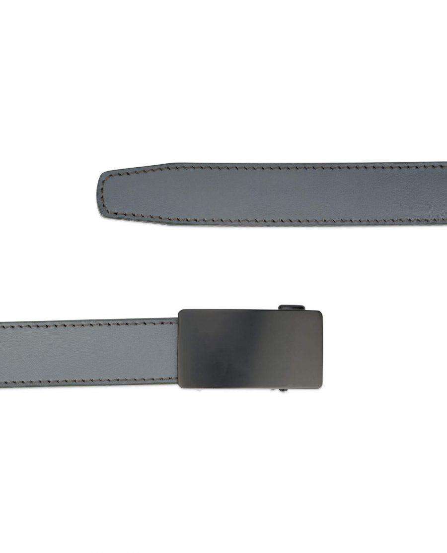 mens gray click it belt with black buckle AUGR35BLPL 2