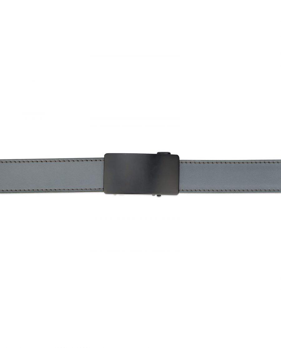 mens gray click it belt with black buckle AUGR35BLPL 5