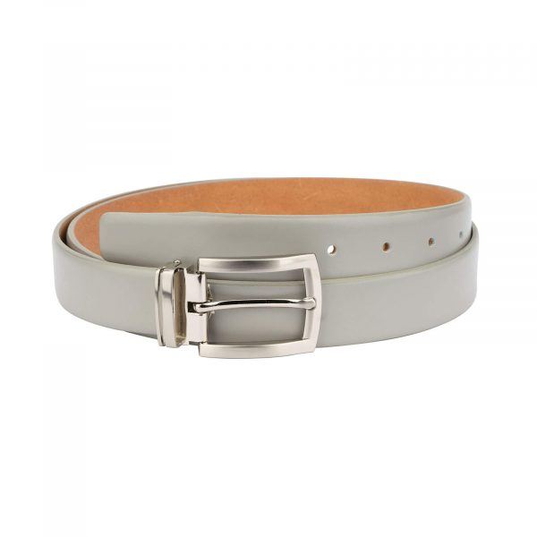 mens grey belt – genuine leather 30 mm GRSM30PTSI 1