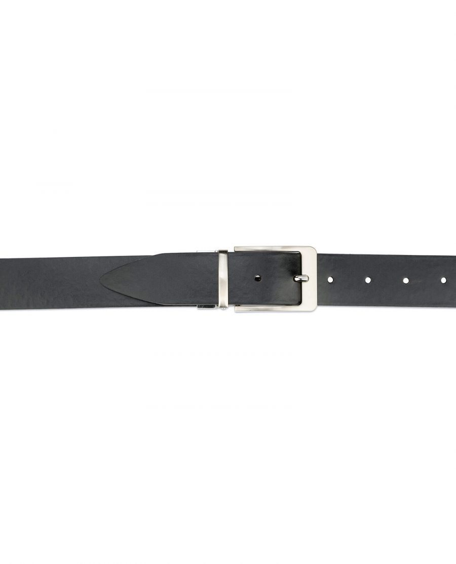 mens leather belt reversible – black and brown 3