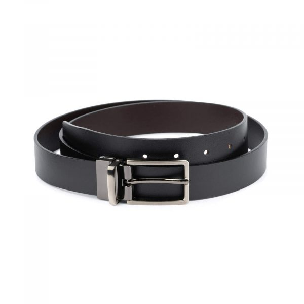 mens leather reversible belt – black brown 30 mm 1