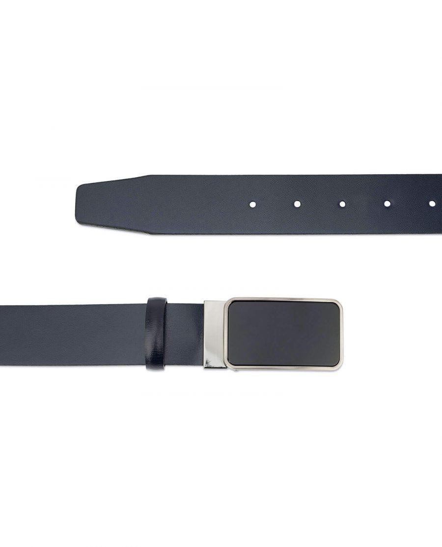 navy blue mens belt with black buckle NVBU35BLBU 2