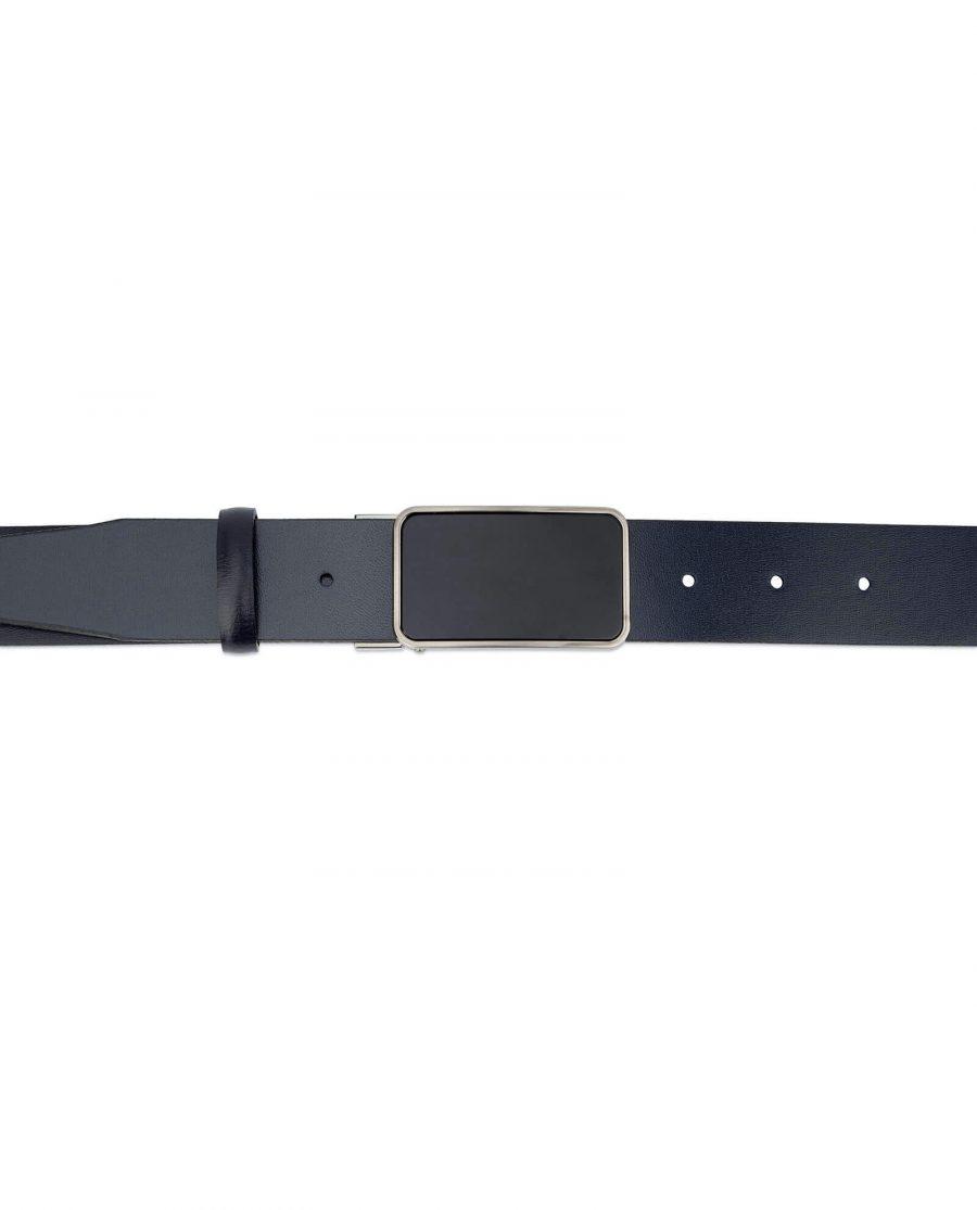 navy blue mens belt with black buckle NVBU35BLBU 3