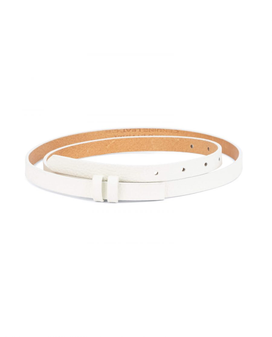replacement belt straps – 15 mm white cowhide DOST15WHIT 1