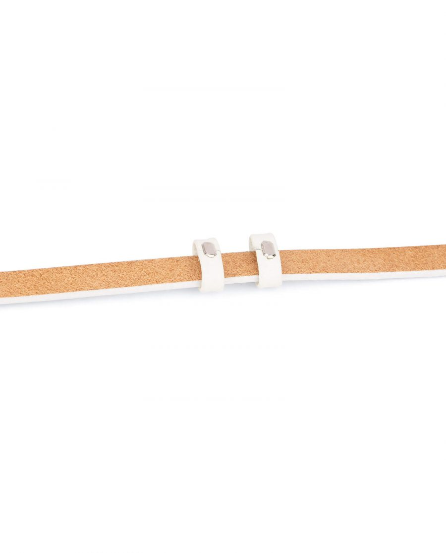 replacement belt straps – 15 mm white cowhide DOST15WHIT 3