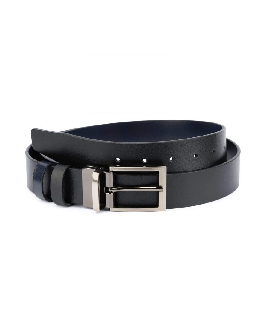 reversible mens belt – blue black 35 mm RENV35GUGR 1