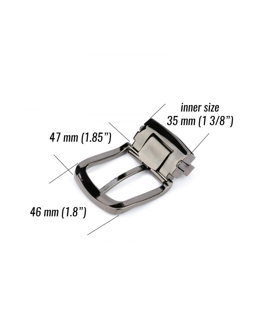 rounded replacement belt buckle – 35 mm dark gray ROGR35PLAR 5 size