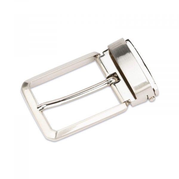 square belt buckle for mens belts – 35 mm nickel SQNI35ARCL 1