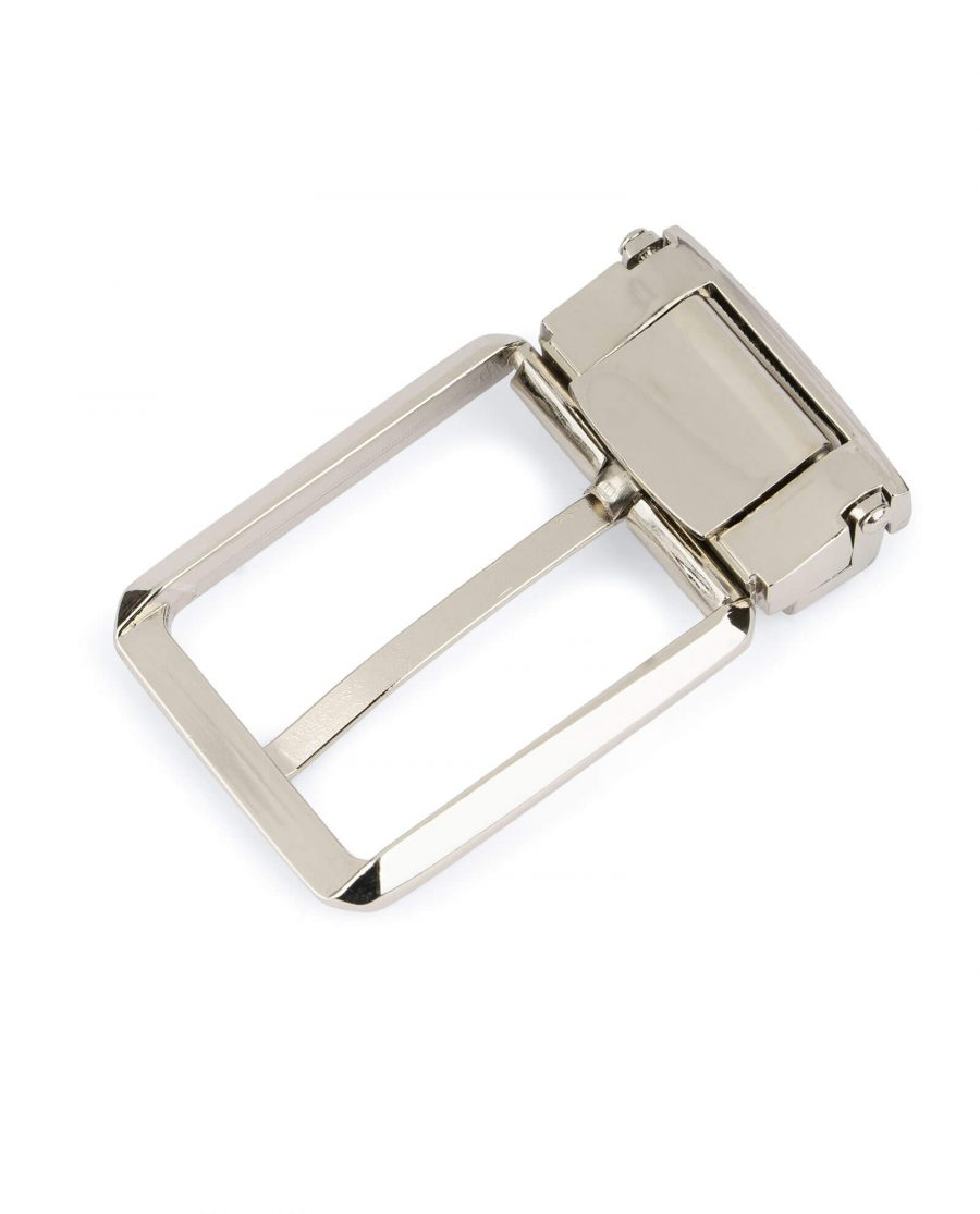 square belt buckle for mens belts – 35 mm nickel SQNI35ARCL 4