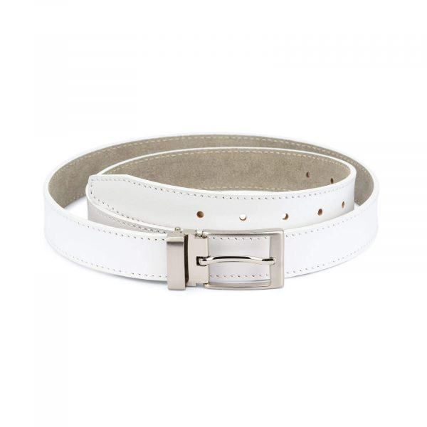 white golf belt form men – real leather 3 0 cm 1
