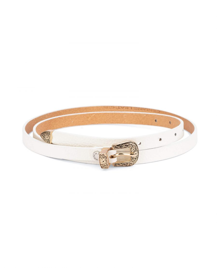 white western belt with gold buckle 15 mm WEDO15RSGD 1