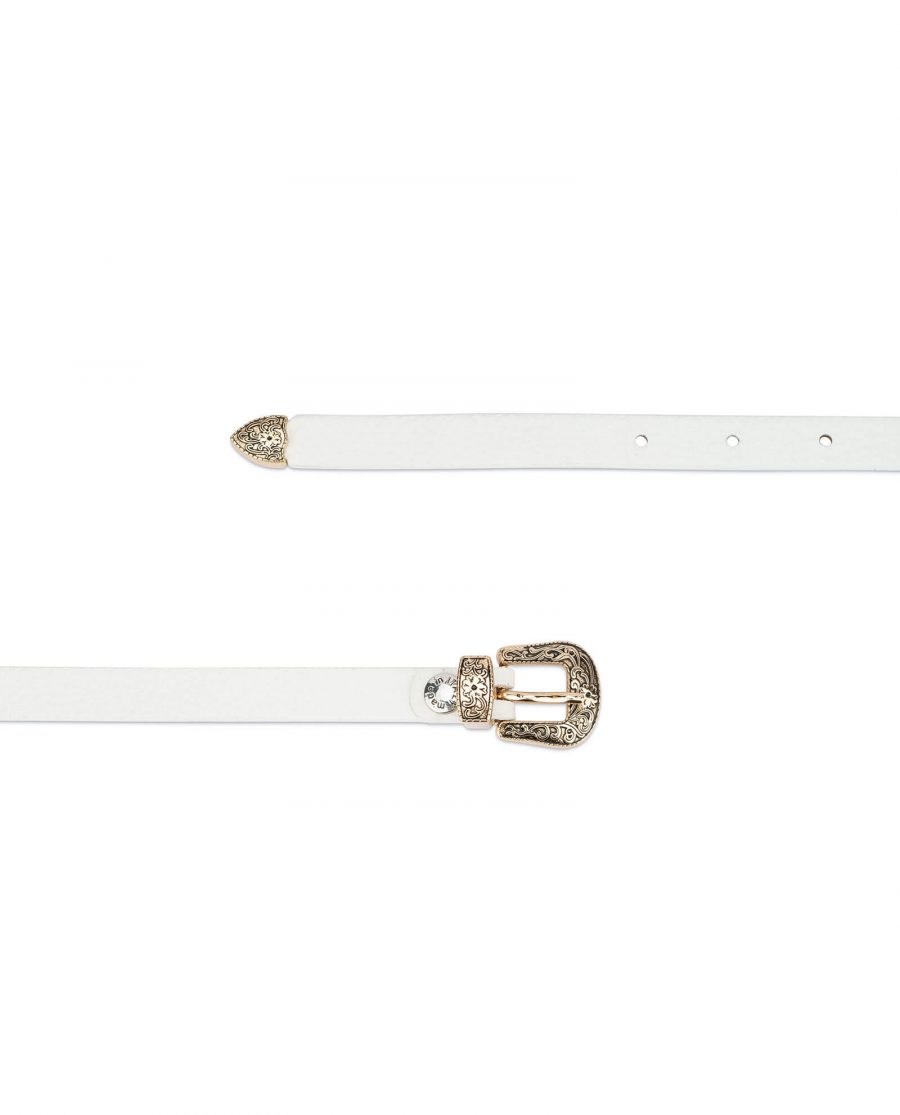 white western belt with gold buckle 15 mm WEDO15RSGD 2