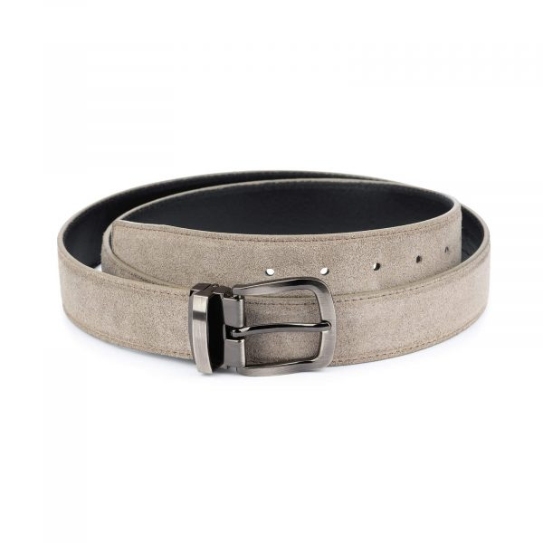 womens taupe belt – real Italian leather 3 5 cm 1