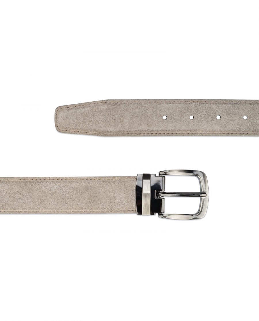 womens taupe belt – real Italian leather 3 5 cm 2