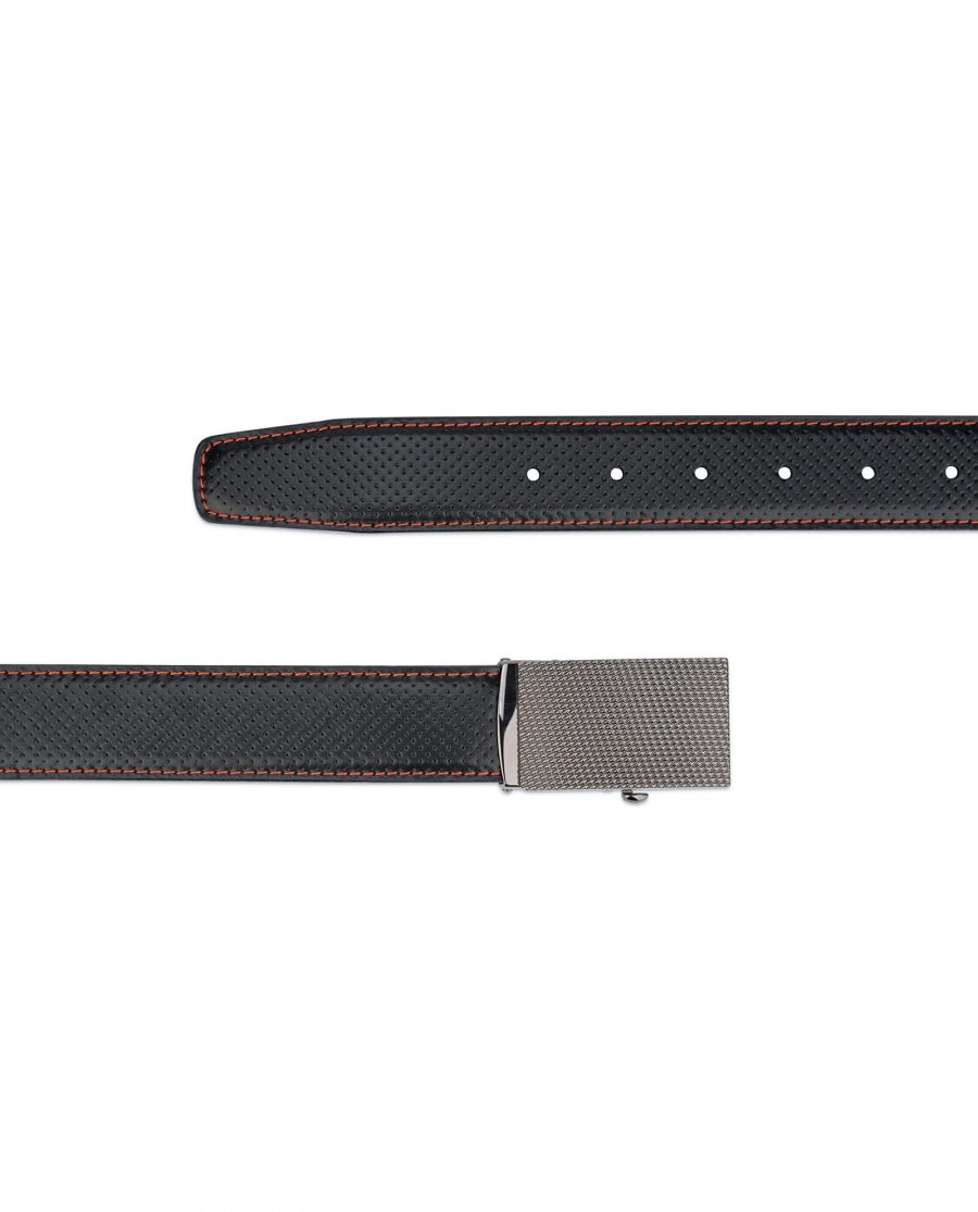 Black comfort click belt – perforated leather 3
