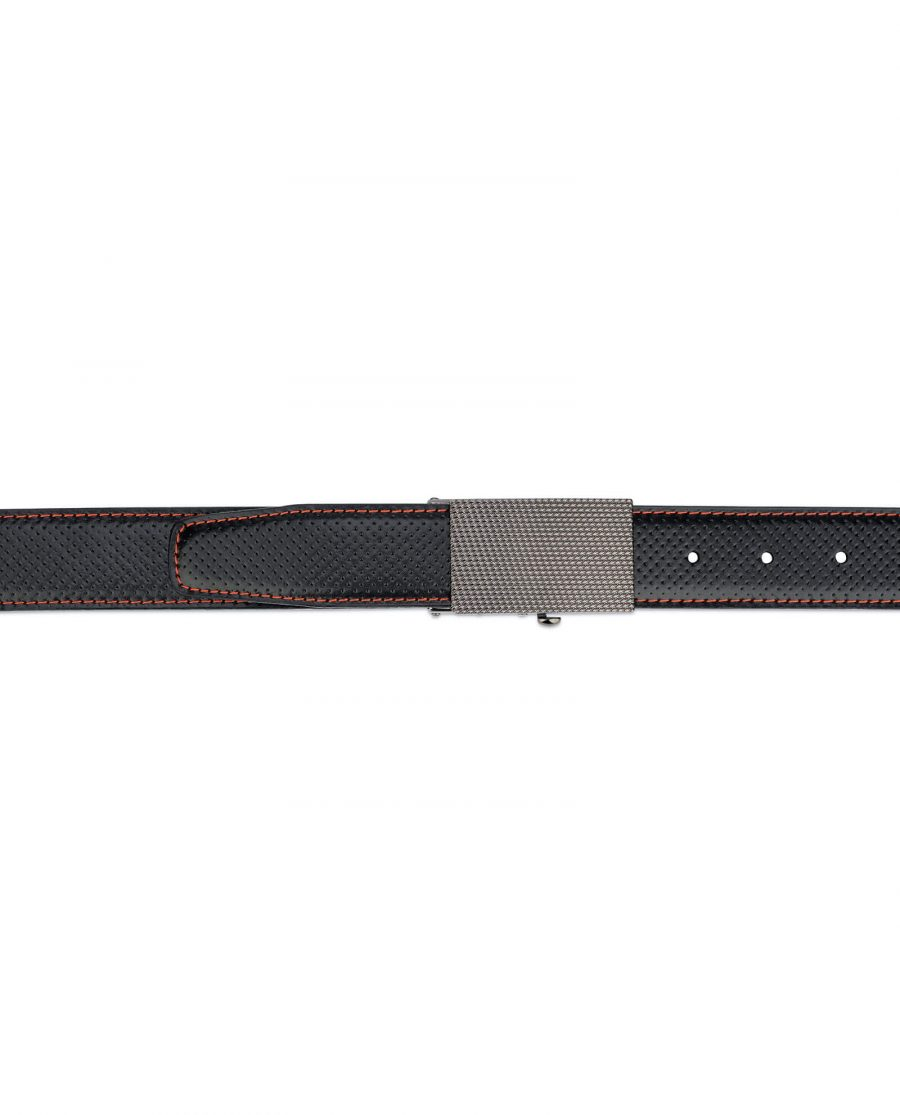 Black comfort click belt – perforated leather 4