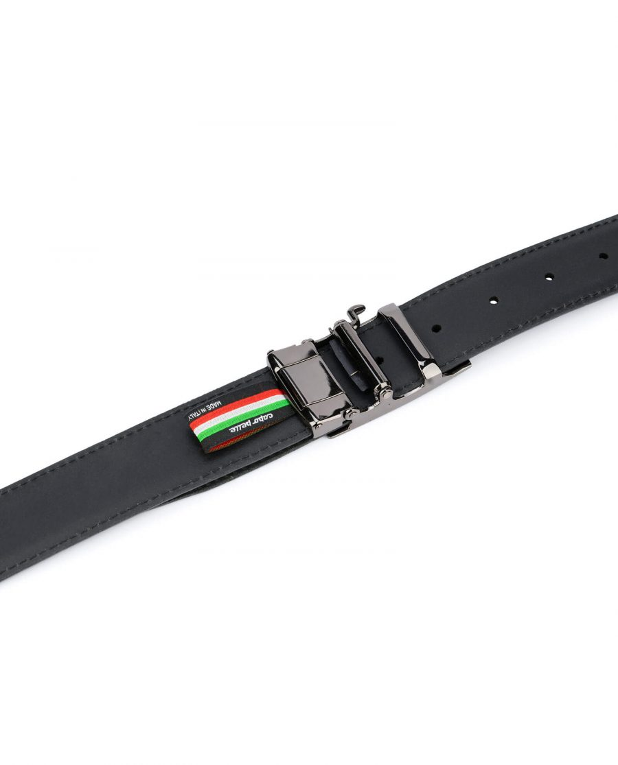 Black comfort click belt – perforated leather 5