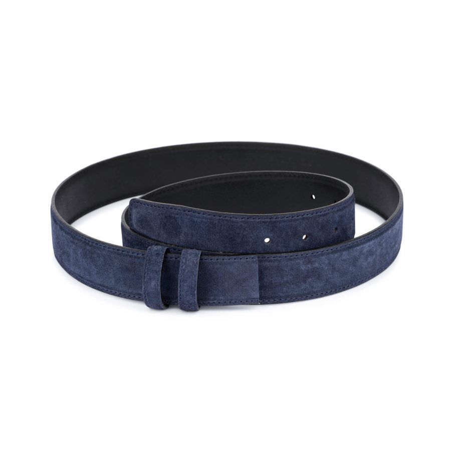 Blue Suede Belt Strap STSU34NVCU 1