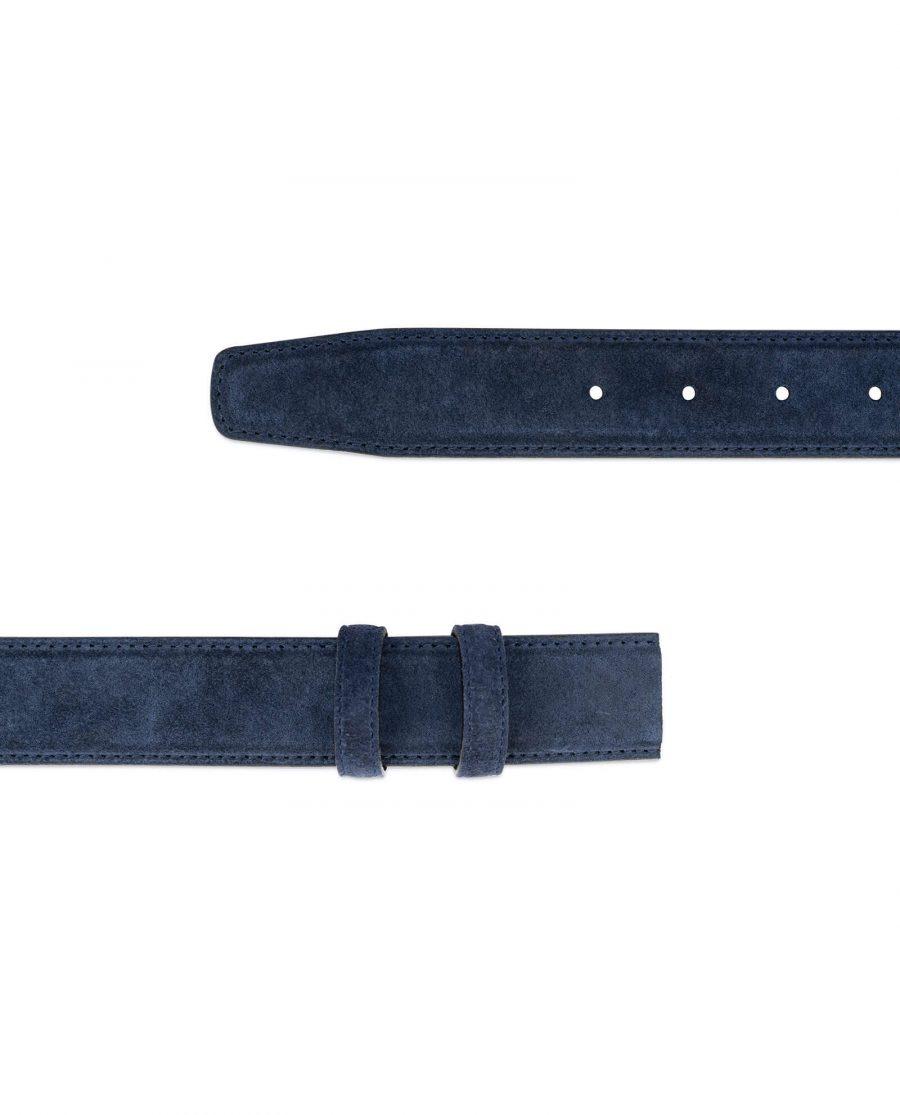 Blue Suede Belt Strap STSU34NVCU 3