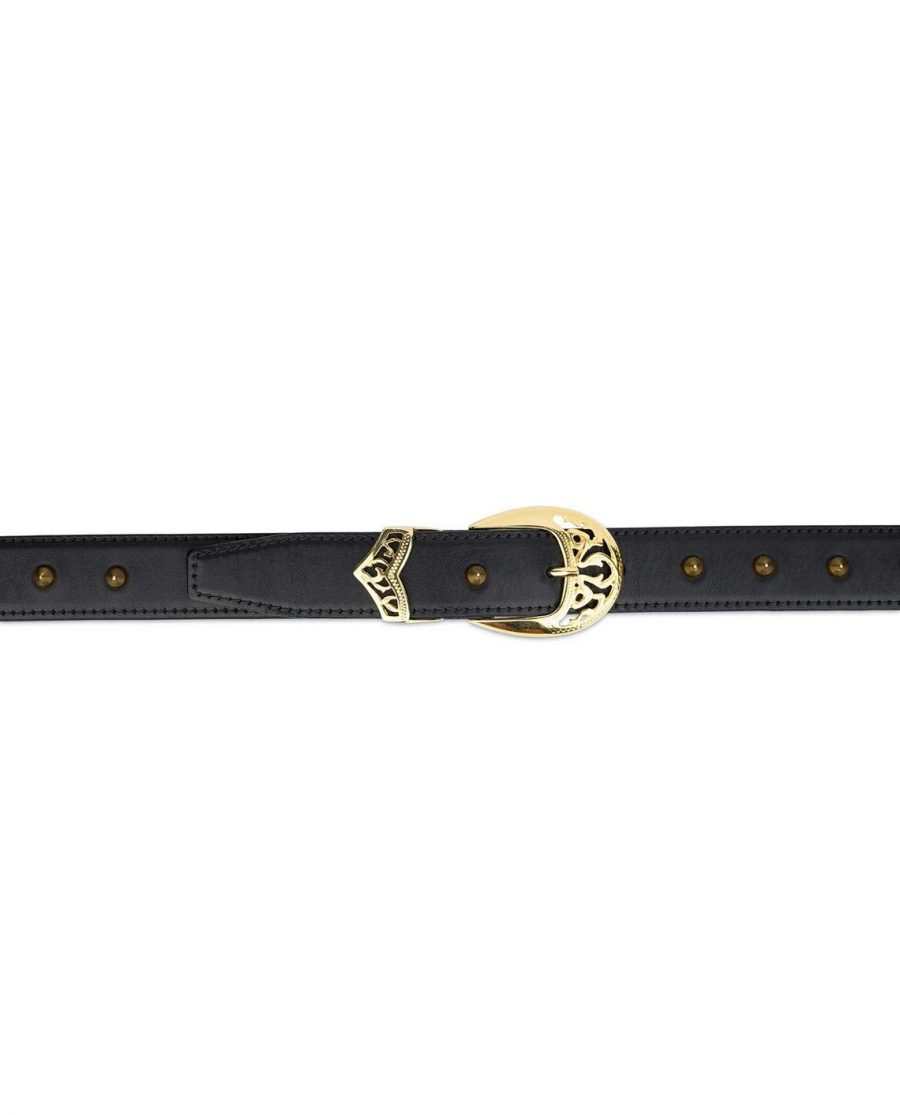 Gold Spiked Belt For Women4