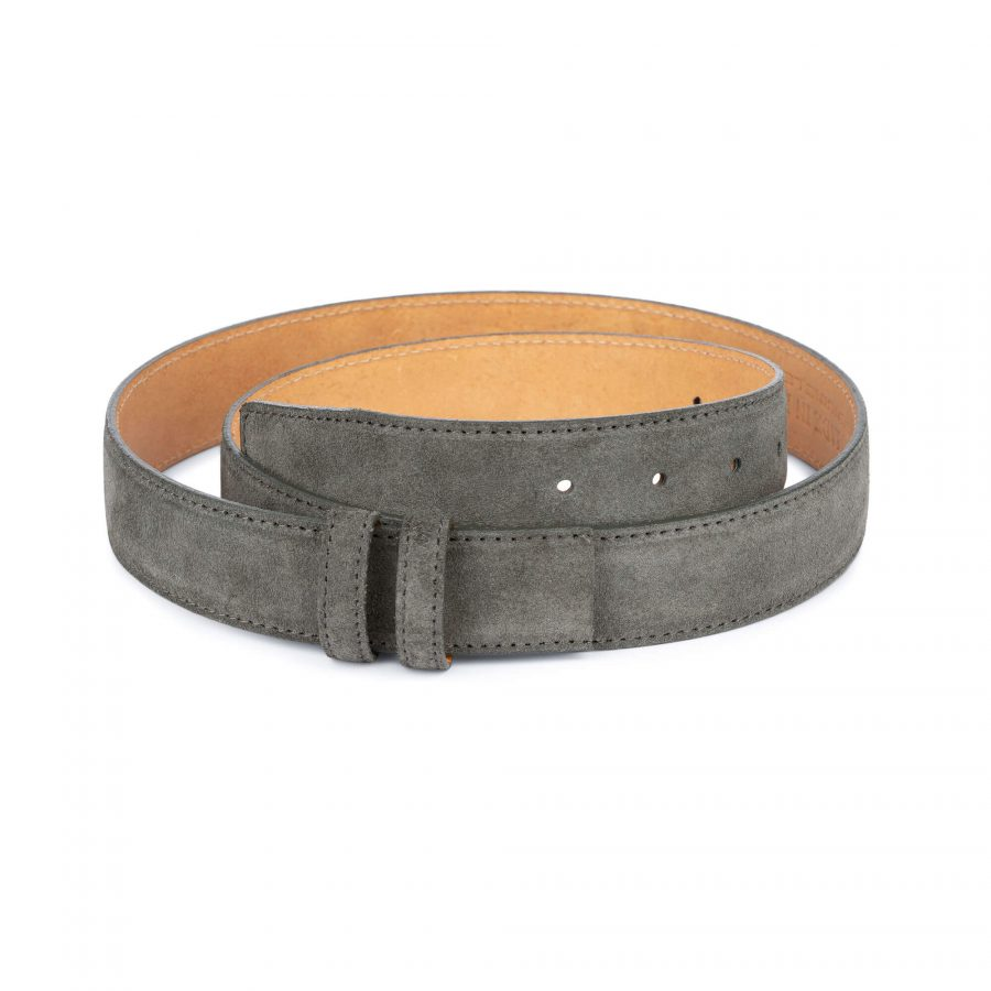 Grey Suede Belt Strap STGR34SULX 1