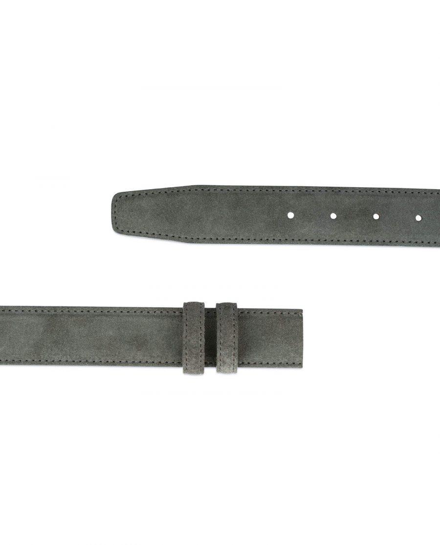 Grey Suede Belt Strap STGR34SULX 3