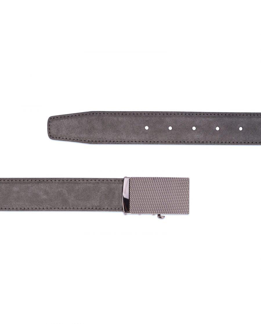 Mens Grey suede automatic buckle belt 3