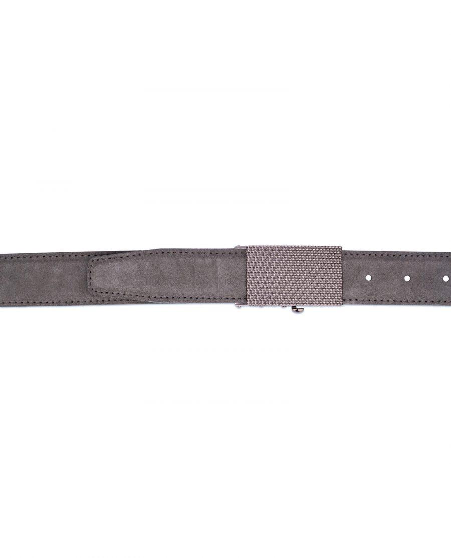 Mens Grey suede automatic buckle belt 4