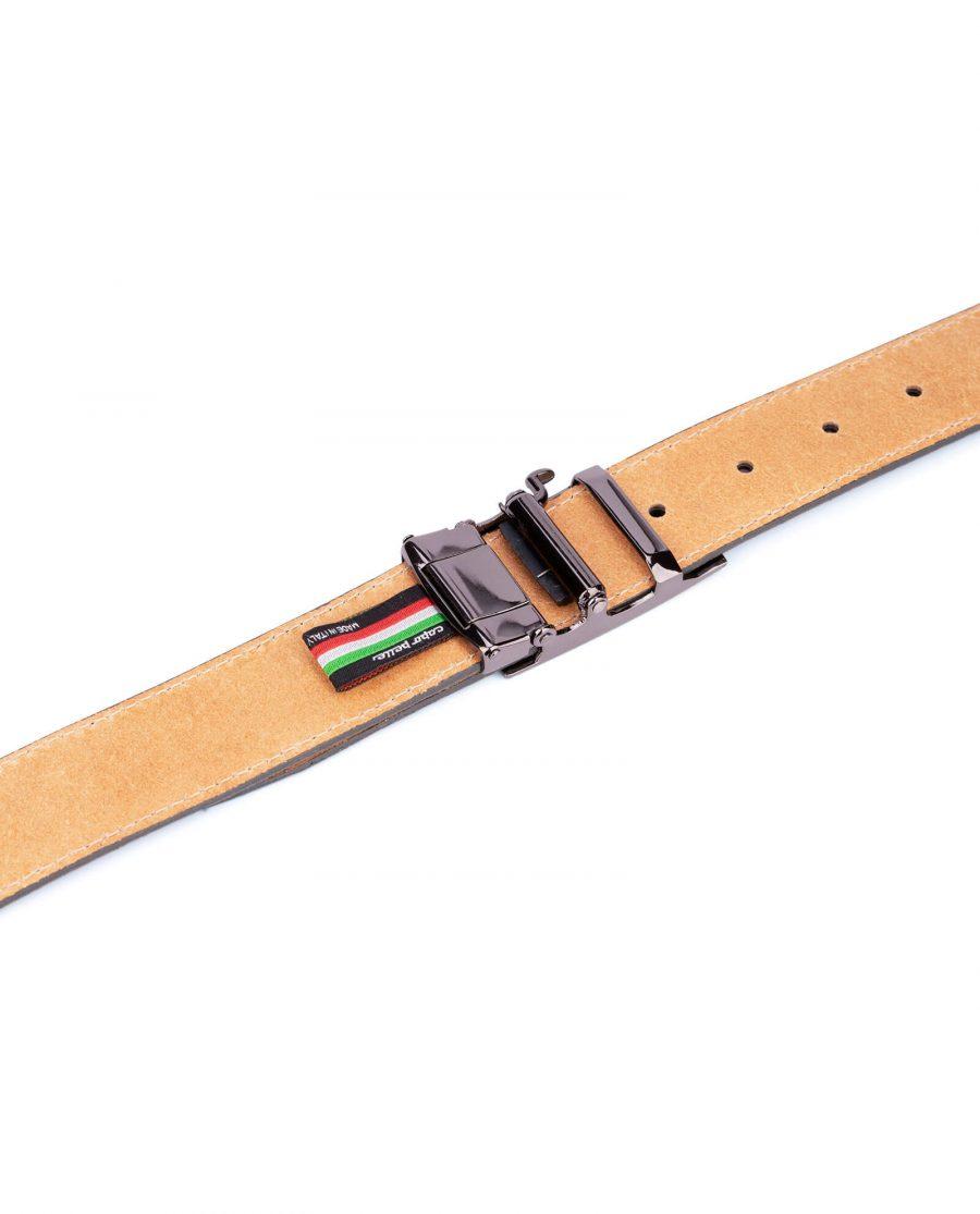Mens Grey suede automatic buckle belt 5