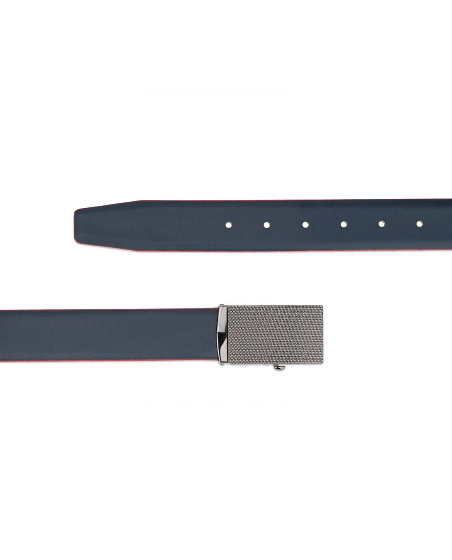 Ratchet navy leather mens belt 13