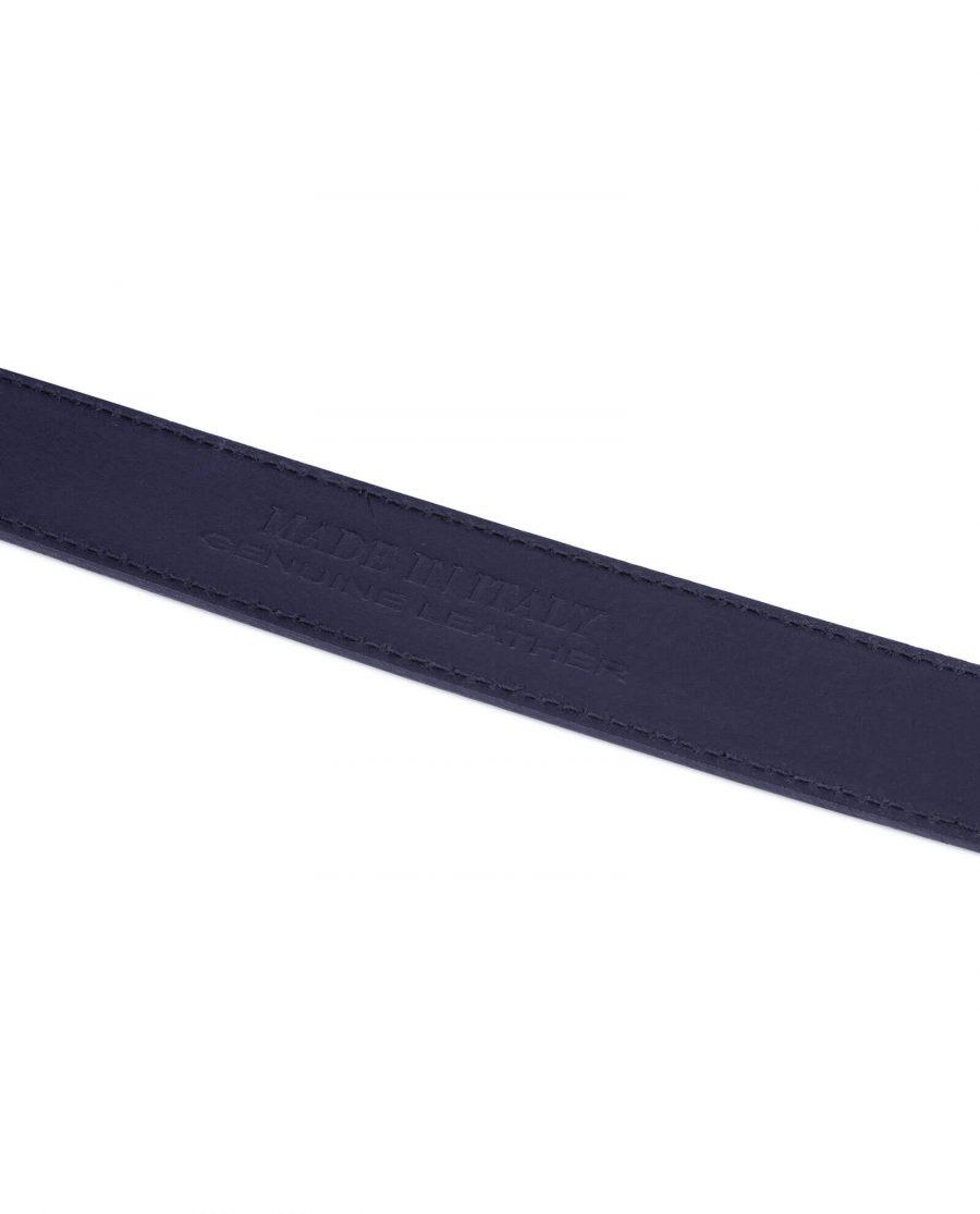 blue suede belt with no buckle 5