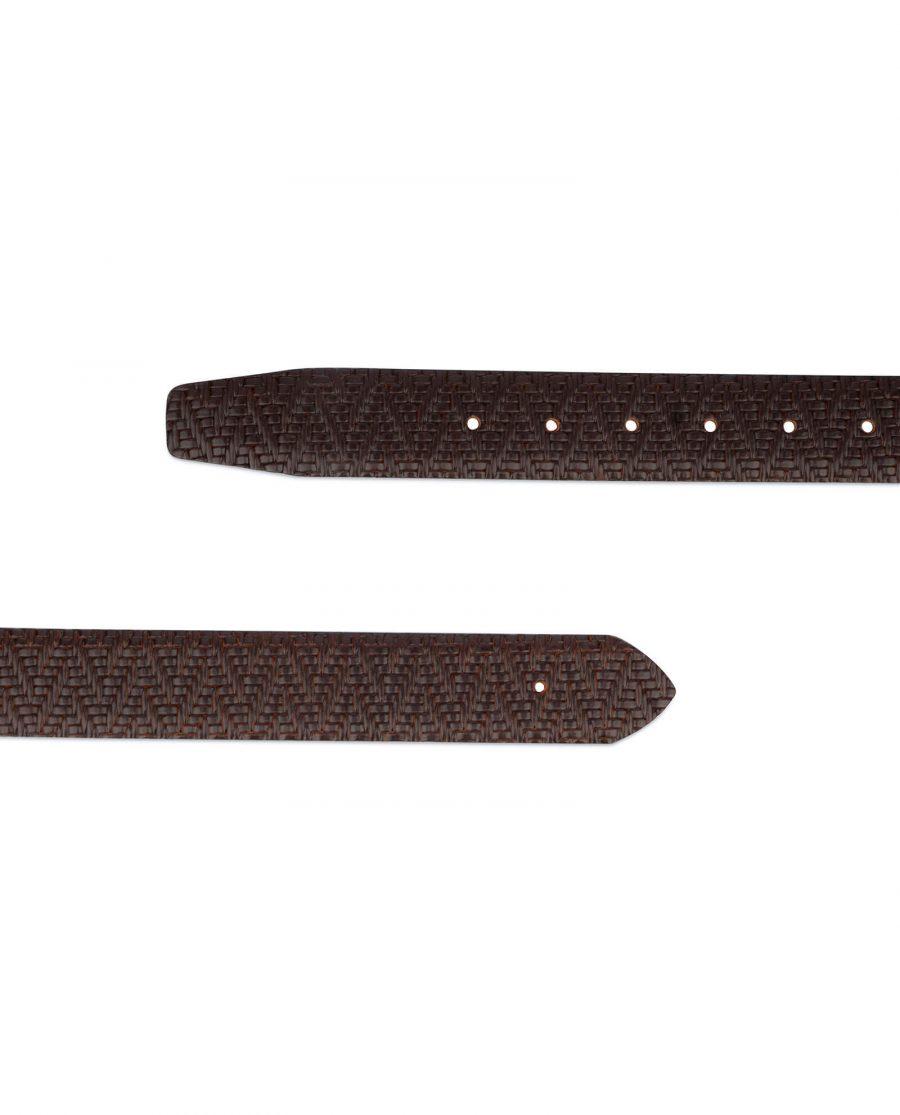 brown mens no buckle belt 3 1