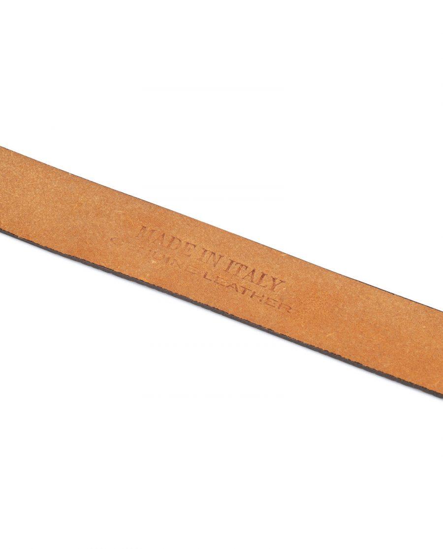 brown mens no buckle belt 5 1