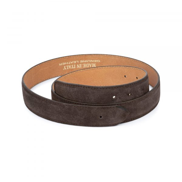 brown suede belt without buckle 1