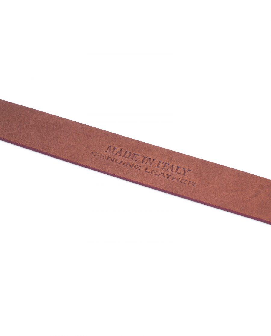 burgundy no buckle leather belt 5