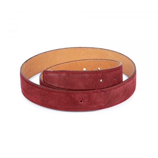 burgundy suede no buckle belt 1