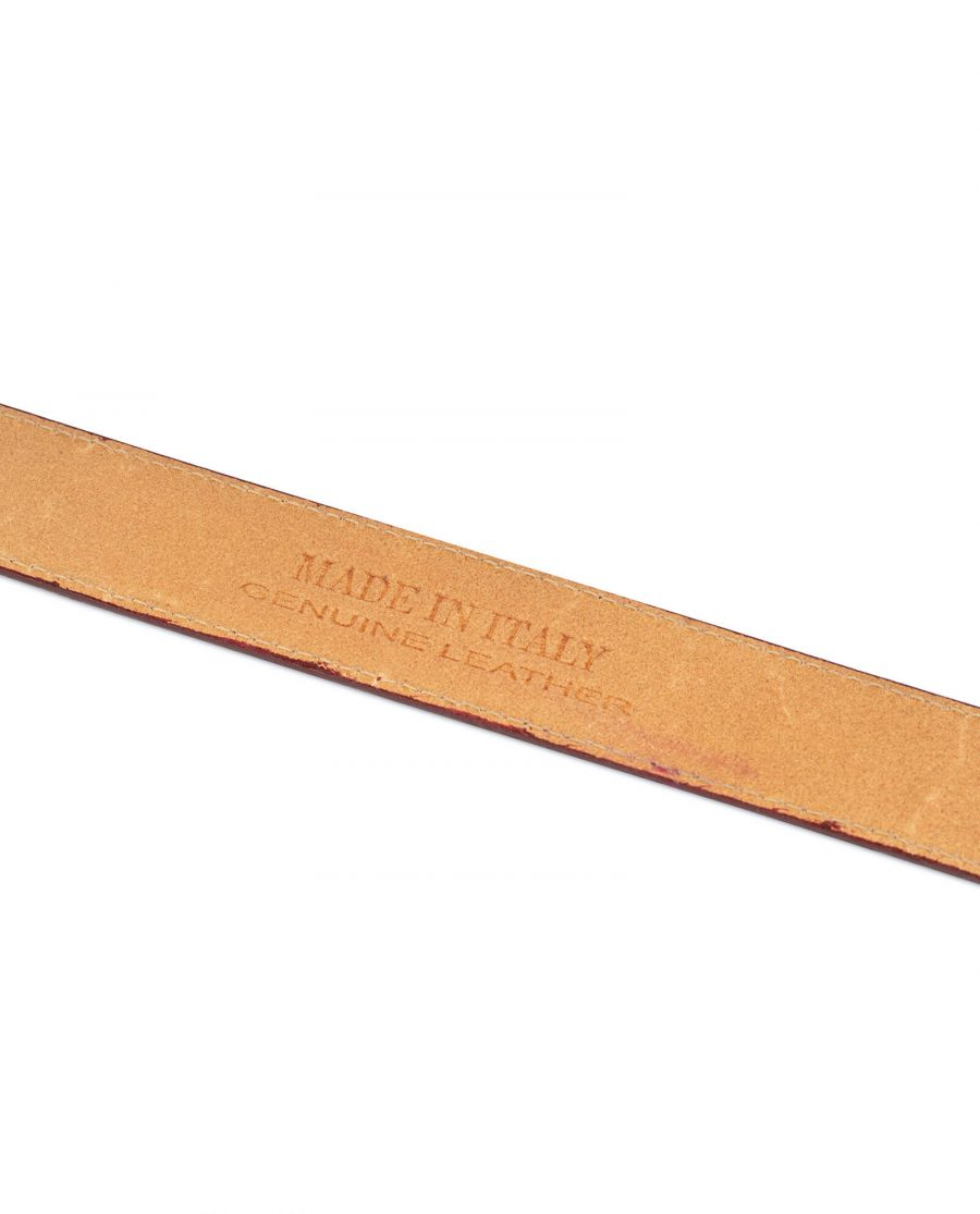 burgundy suede no buckle belt 5