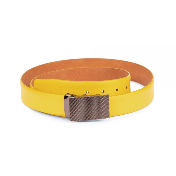 comfort click yellow belt mens 2