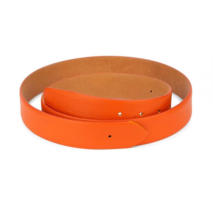 orange belt leather no buckle 1