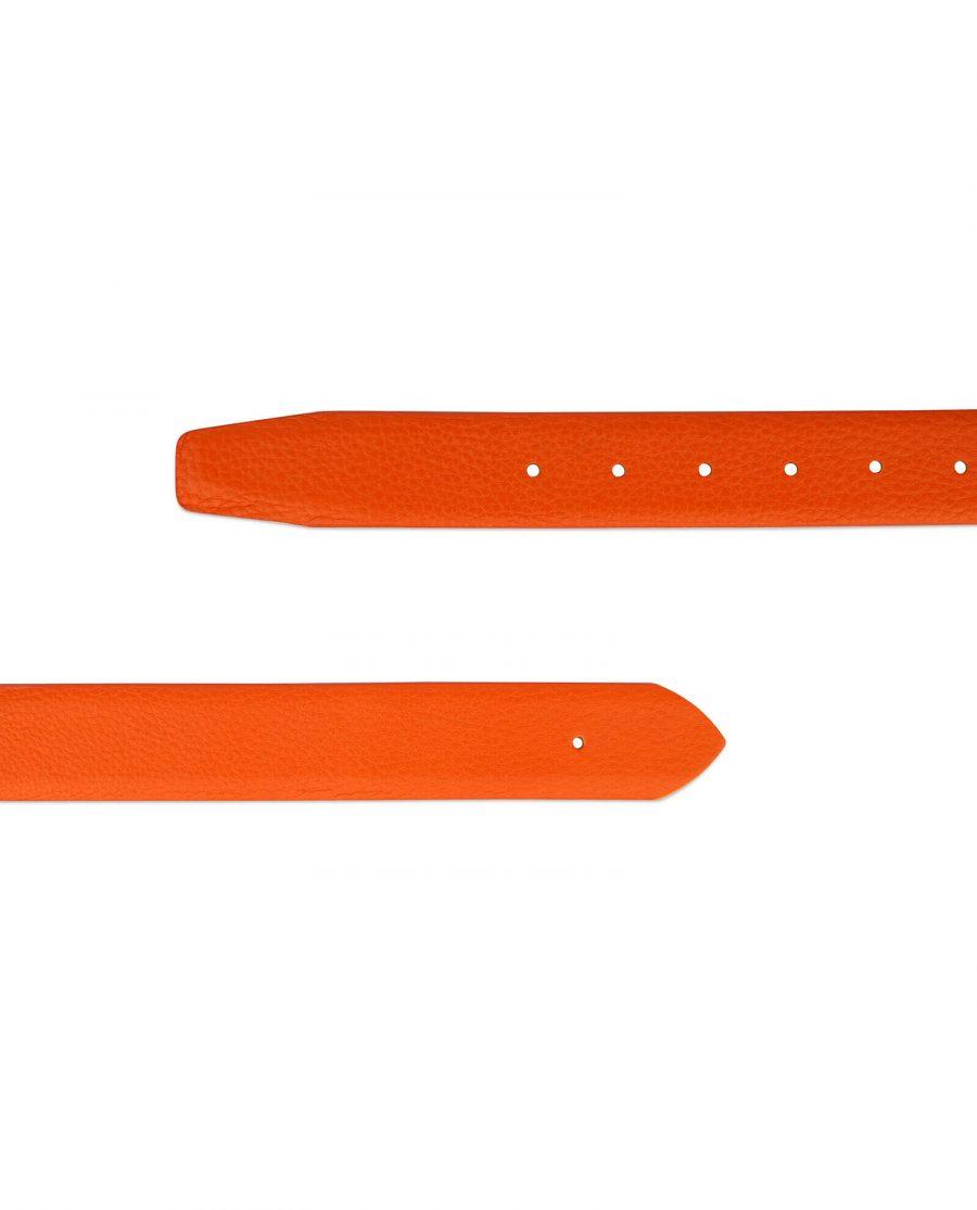 orange belt leather no buckle 3