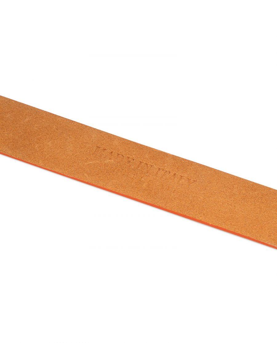 orange belt leather no buckle 5
