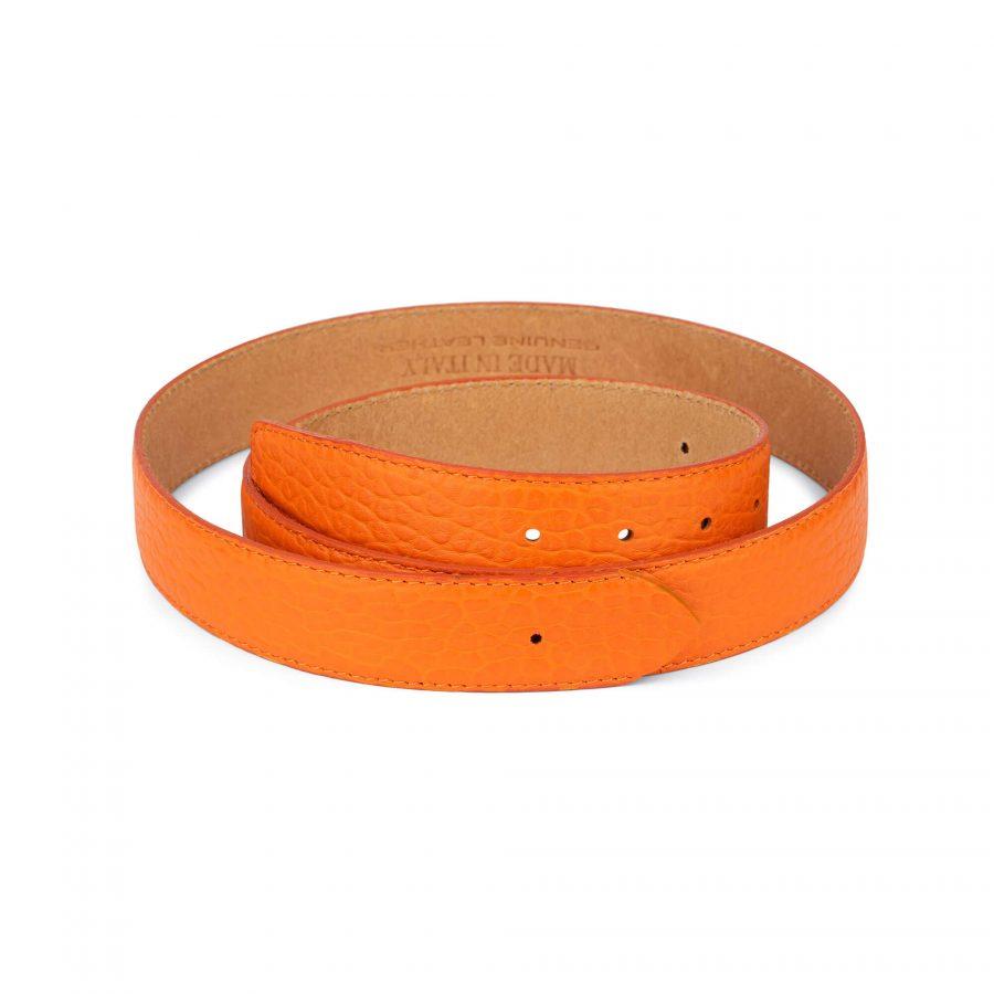 orange leather belt no buckle 1
