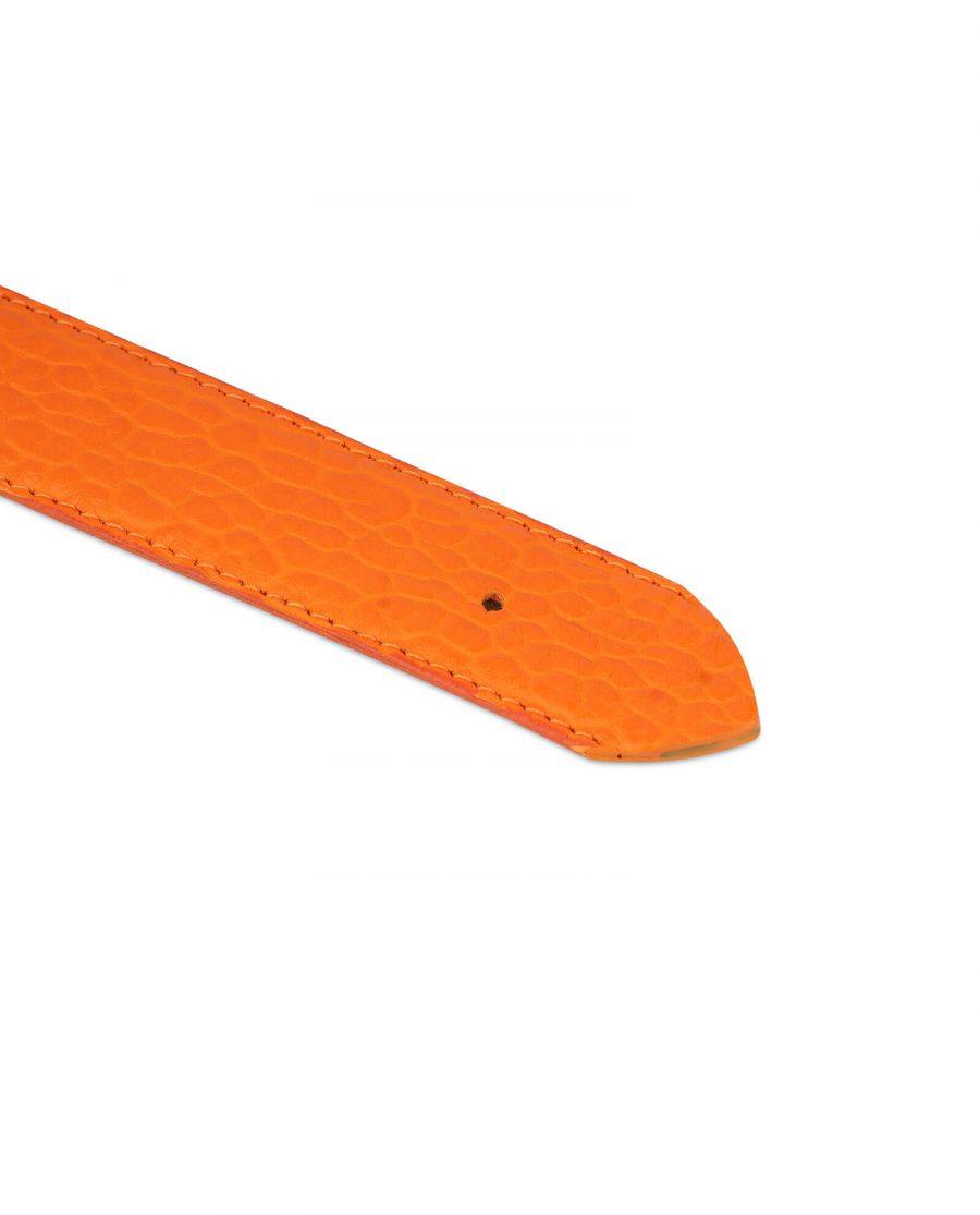 orange leather belt no buckle 4