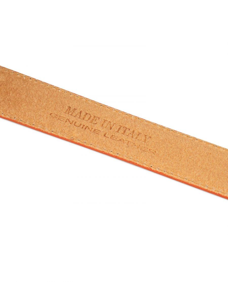 orange leather belt no buckle 5