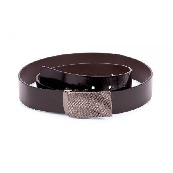 patent leather mens belt with slide buckle 1