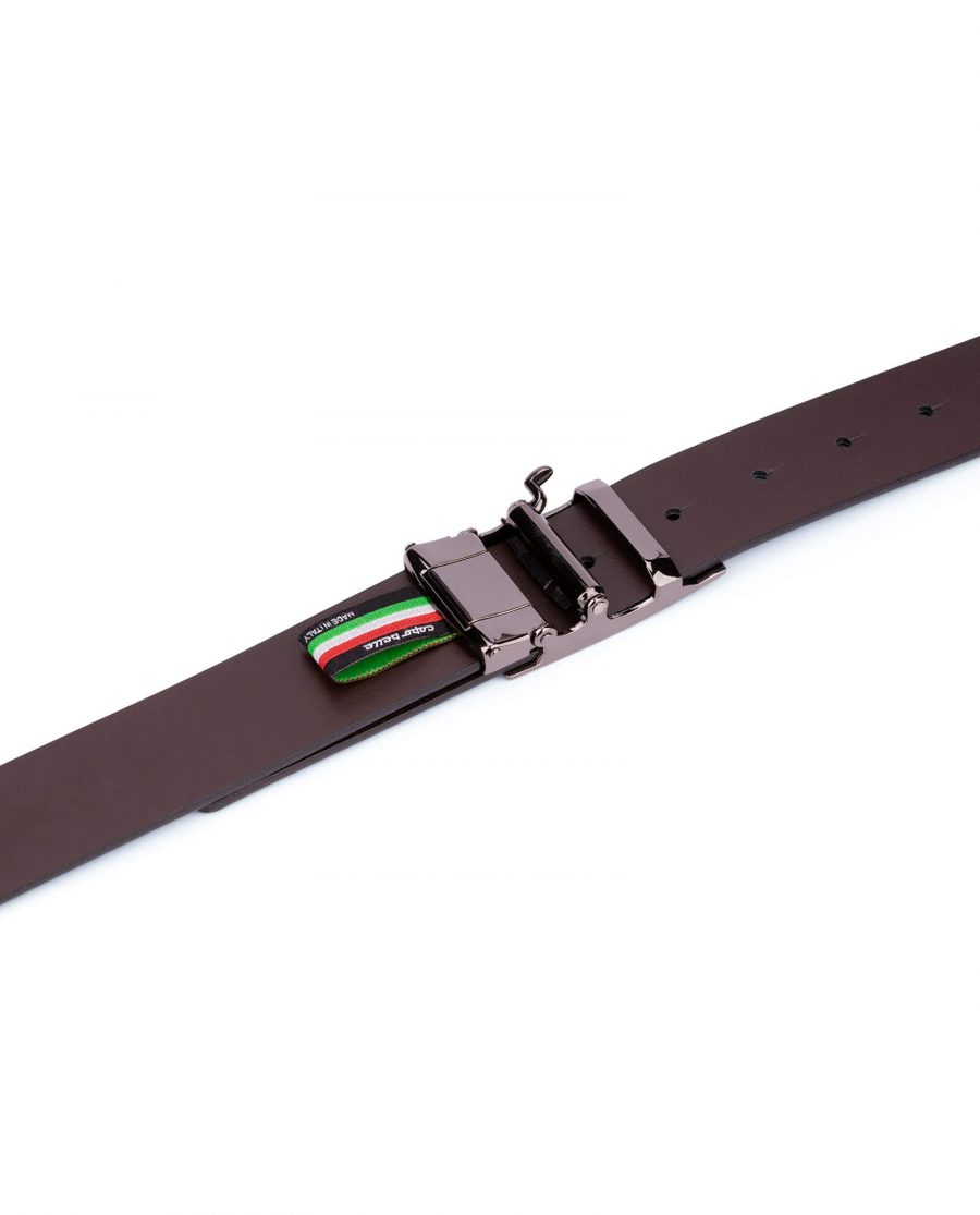 patent leather mens belt with slide buckle 5