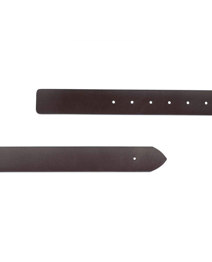 reversible brown mens belt no buckle 35 mm 4