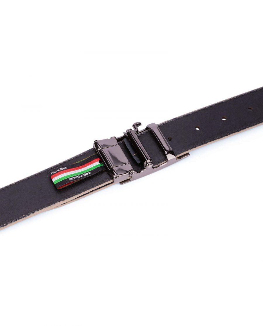 taupe suede comfort click belt 16