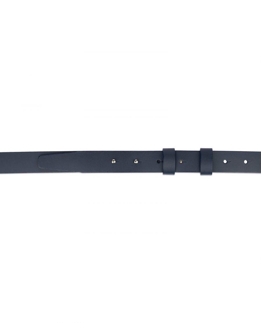 1 inch womens dark blue belt without buckle 3